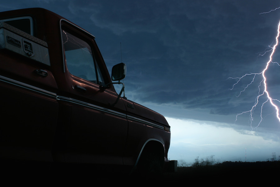 truck and storm