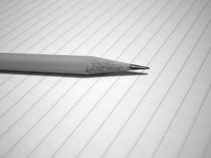 pencil and paper