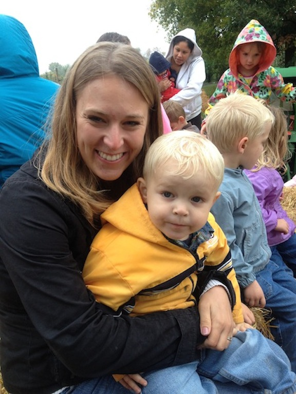 mom and liam hayride