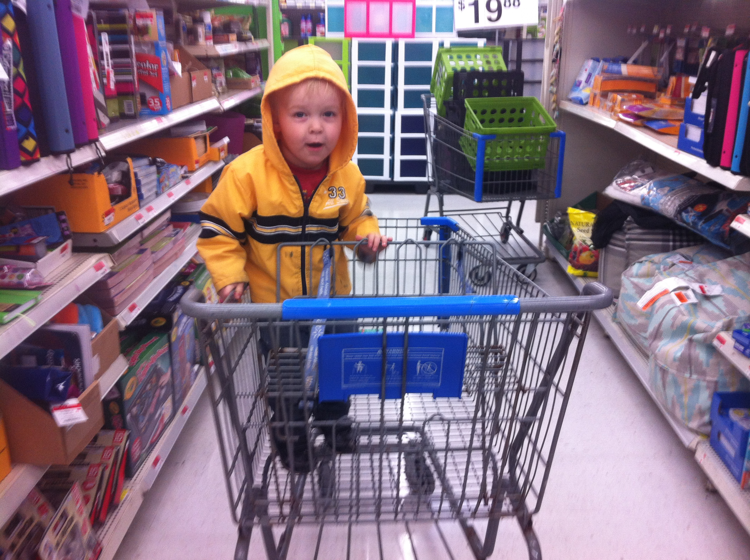ks walmart - liam in cart