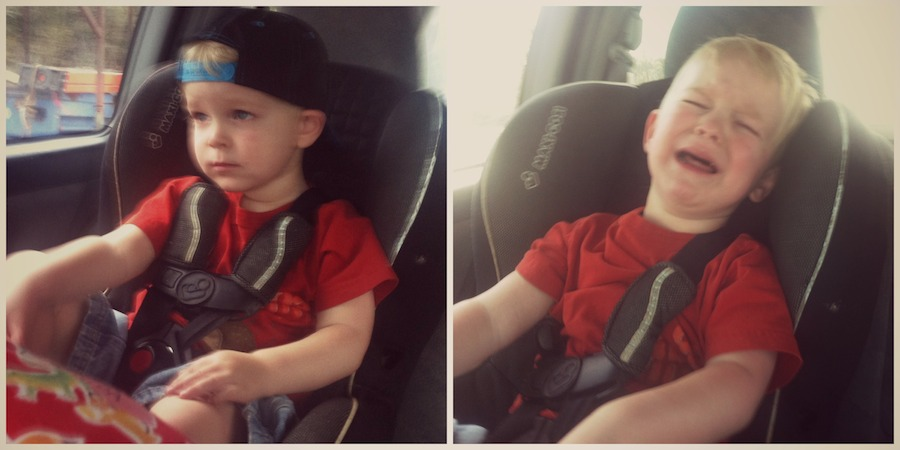 liam in the car