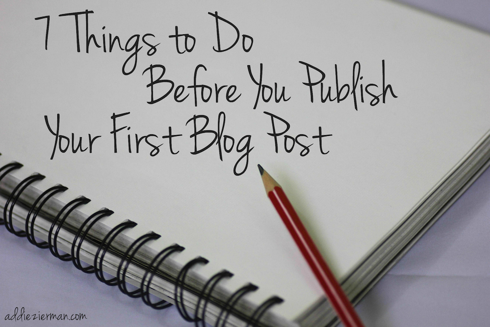 before you publish