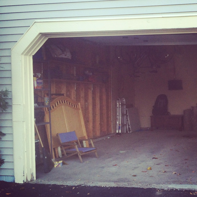Andrew's out of town, so, naturally, the garage door broke. Can't even close it manually. Please, no one steal our stuff.