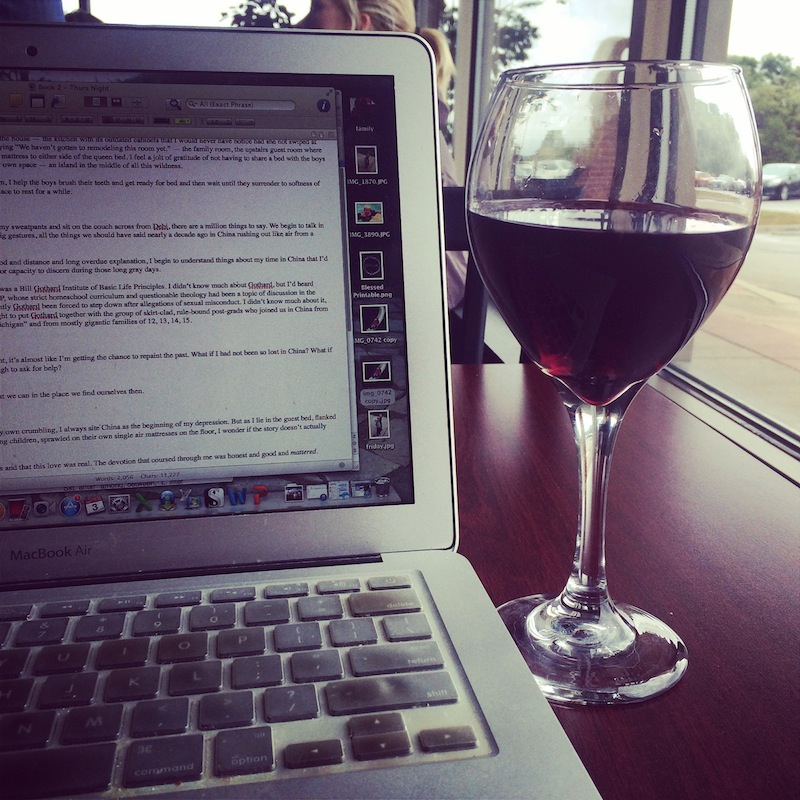 wine and writing