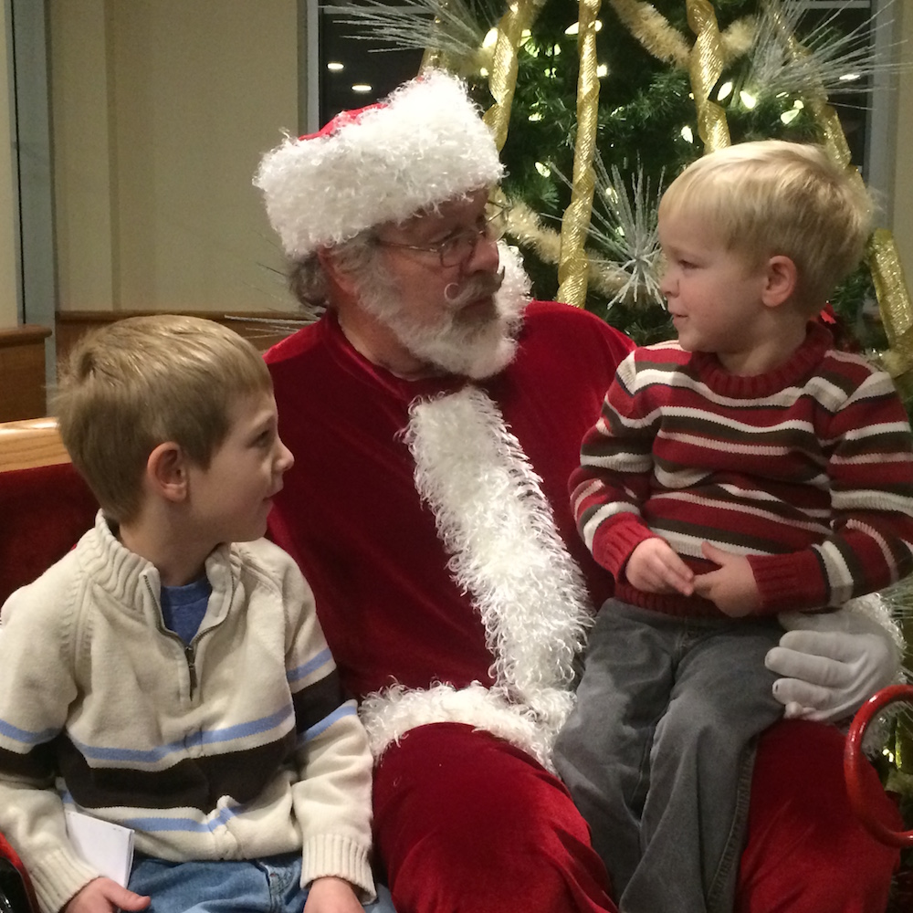 christmastime in the suburbs - culvers santa