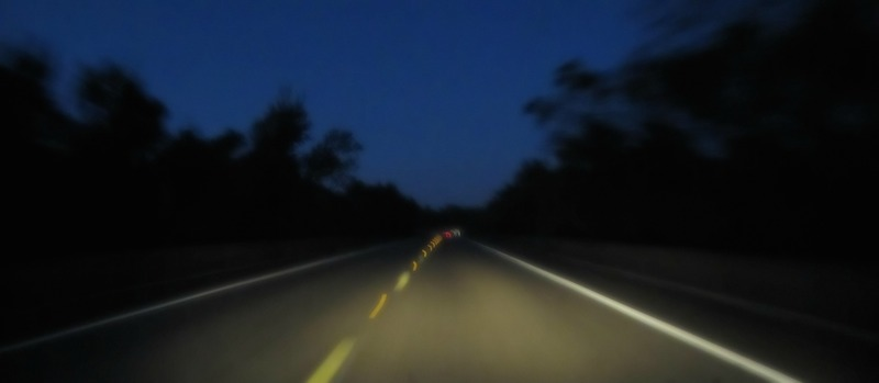 Night Driving - road pic