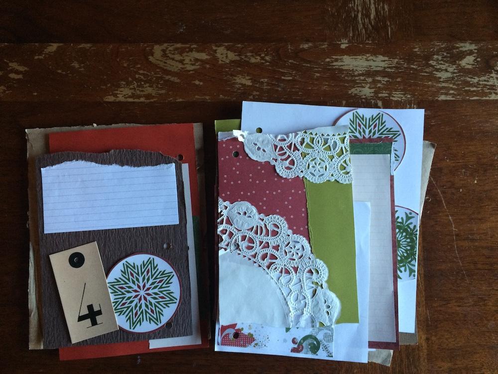 advent junk journal - inside