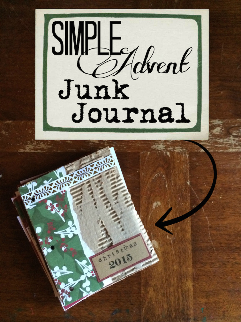 simple advent junk journal