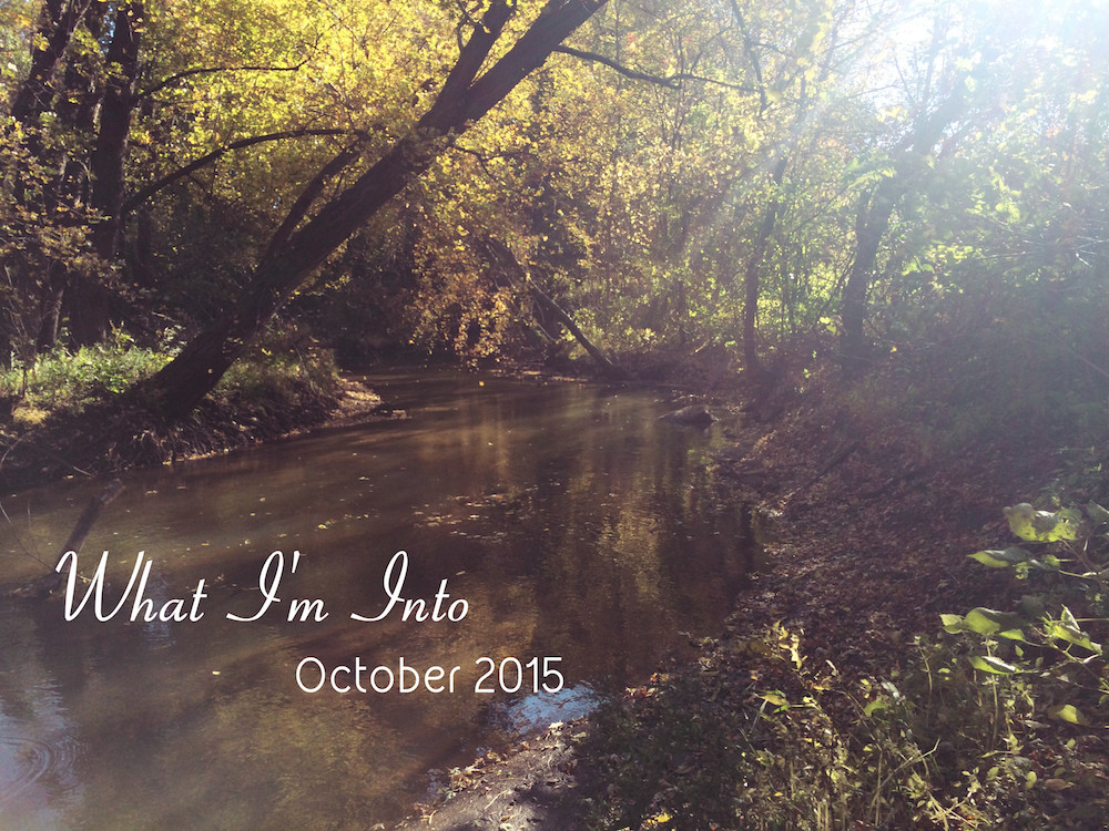 what i'm into - october 2015