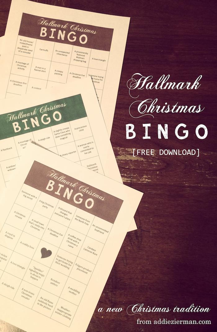 hallmark christmas bingo