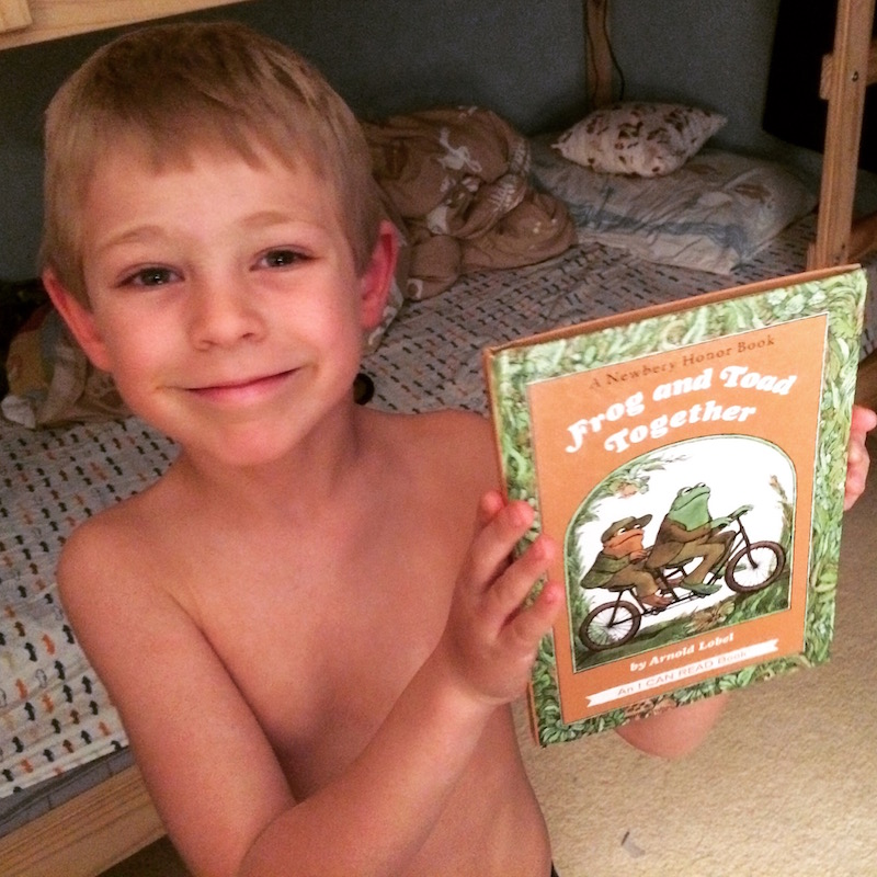 reading wth my son