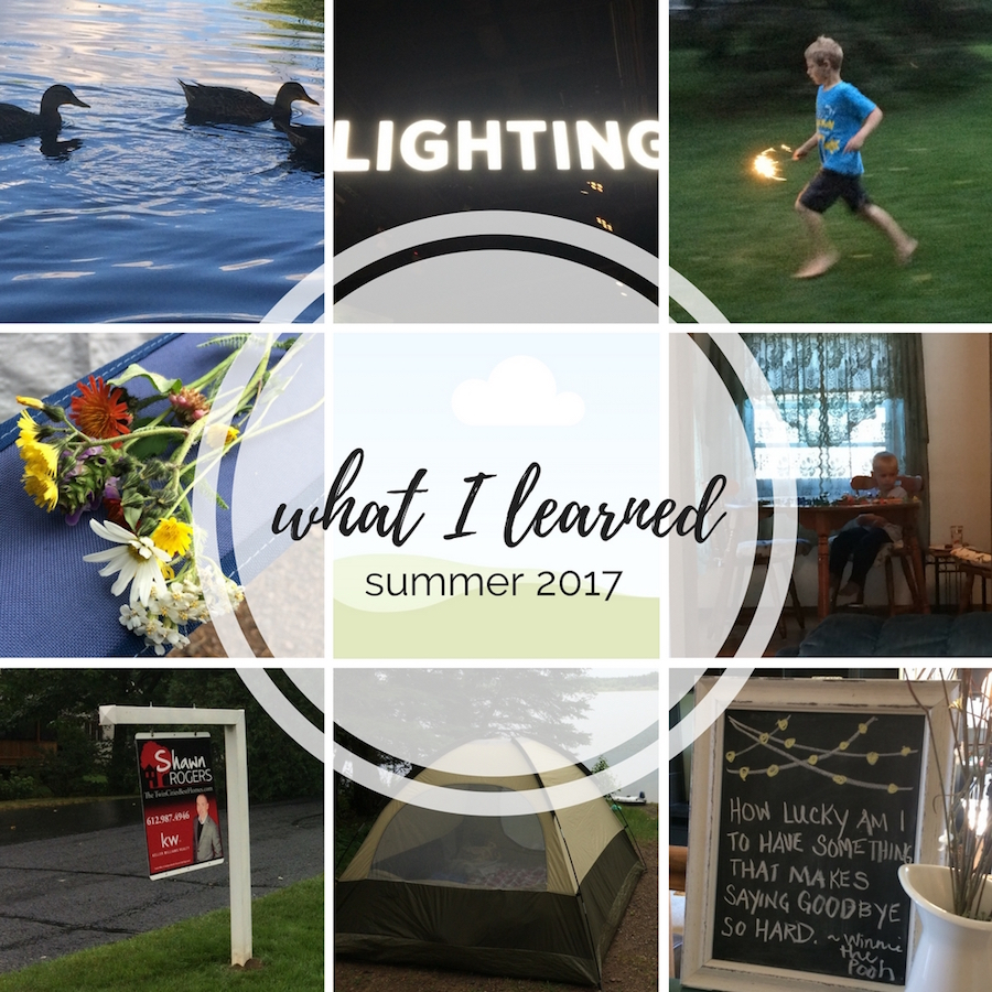 What I Learned: Summer 2017